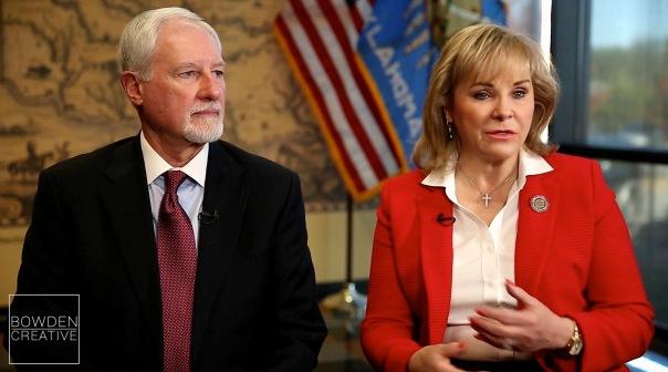 Mary Fallin & DHS Director Ed Lake Oklahoma City