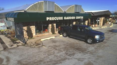 precure nursery garden center drone aerial front